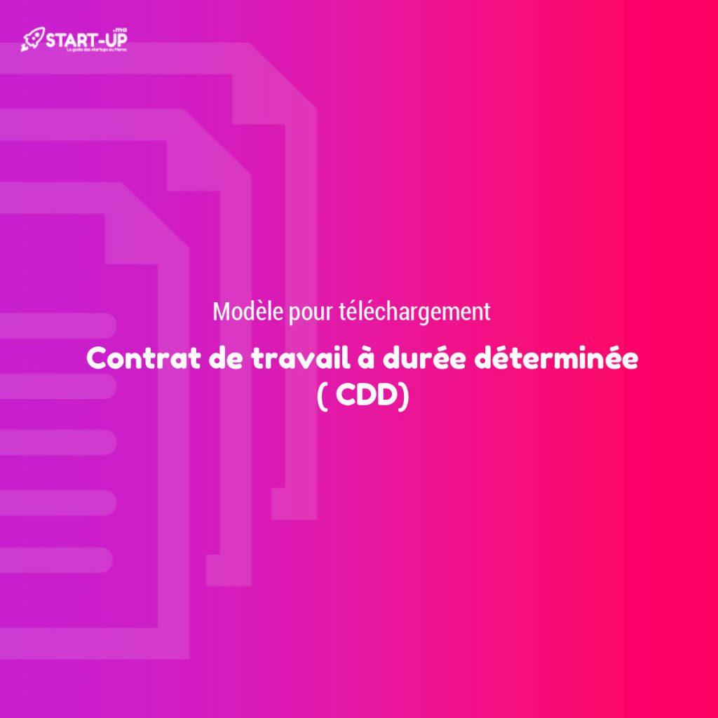 Contrat de travail à durée déterminée ( CDD)