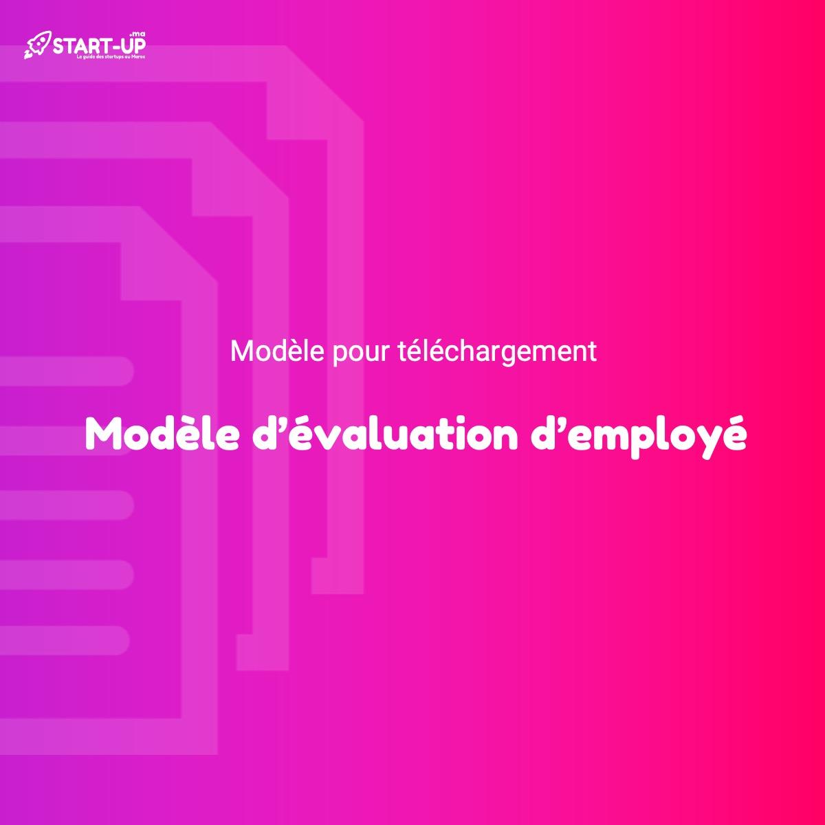 Modèle d'évaluation d'employé